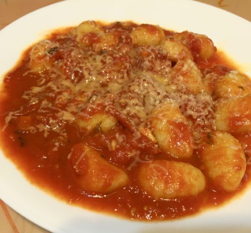 Tomato Sauce with Onion and Butter on potato Gnocchi