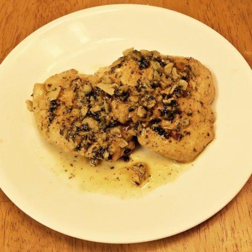 Garlic Chicken with Parmesan Sauce poppopcooks.com