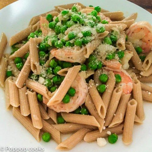 Shrimp Peas Pasta-7-poppopcooks.com