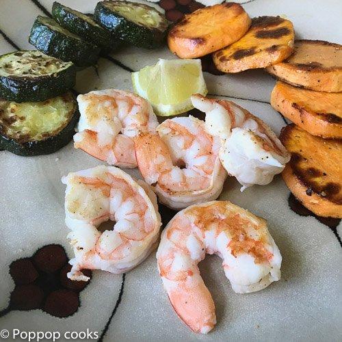 one skillet shrimp dinner-poppopcooks.com-shrimp-quick and easy-Gluten Free-Paleo