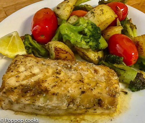 Quick and Easy Codfish Filet Dinner-7-poppopcooks.com-gluten free-paleo-seafood