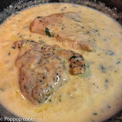 chicken filets and lemon butter sauce